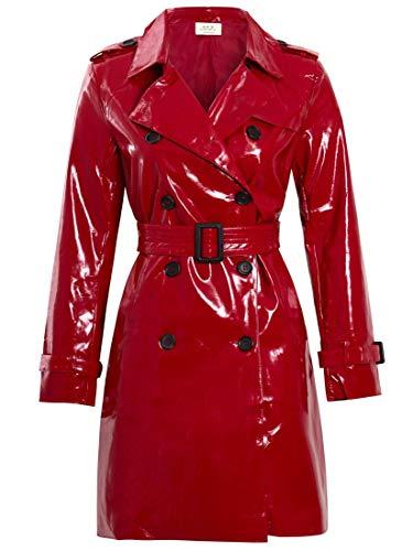 SS7 Damen Patent PU Mantel