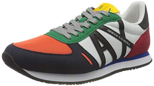 Armani Exchange Rio Sneakers, Zapatillas Hombre, Multicolor, 40.5 EU