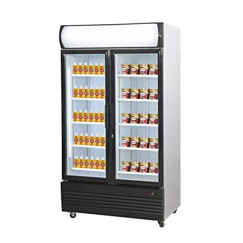 Combisteel - Armario frigorífico bi-teratura acristalada, 2 x 466 litros