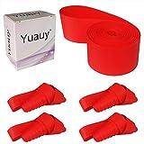 Yuauy - Juego de 4 Protectores para Llantas de Bicicleta de montaña (26 x 20 mm), Color Rojo