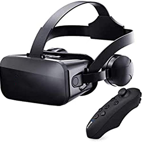 CXD J20 VR Glasses, Virtual Reality Glasses Compatible Games And 360 Degrees Movies in 3D with Soft & Comfortable with Iphone & Android 3D Glasses Experience,Black