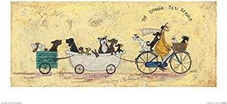 Sam Toft The Doggie Taxi Service Print 30x60cm