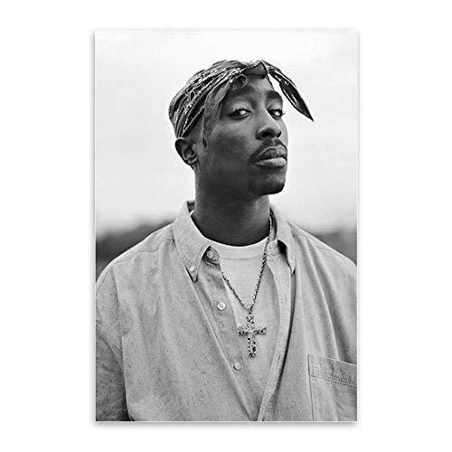 CAPTIVATE HEART Leinwand Bilder 50x70cm kein Rahmen Tupac Shakur 2PAC Rapper Stern Poster Hip Hop Kunst Malerei Moder Poster Wandbilder für Home Design