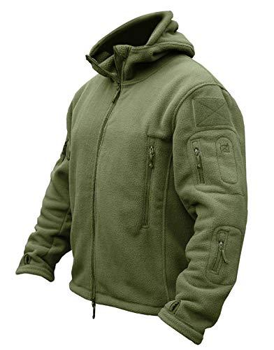 Men's Tactical Fleece Jacket (US 2XL,Army Green)