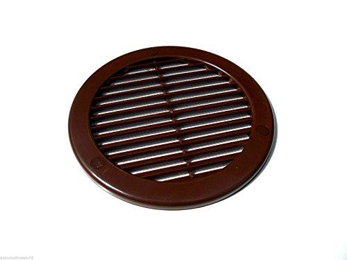 Grille d'aération ronde avec moustiquaire marron ø 125 mm tRU15 grille d'aération