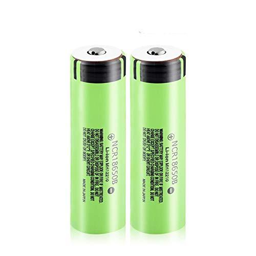 CNMMGL Baterías de Iones de Litio de Litio de 3.7v 3400mah 18650b, Pilas Recargables con Placa PCB Utilizada para Faro de antorcha Timbre de Video 2Pcs