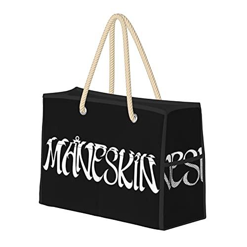 Maneskin Logo - Bolsa de playa grande de lona, resistente al agua, para el gimnasio, viajes diarios