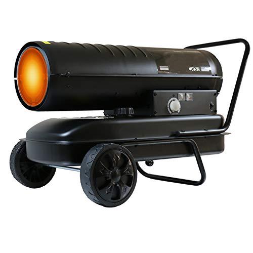Calefactor De Gasoil, Cerámico Calefactor Eléctrico 65 Kw, con Control Remoto De 20 Metros, Tanque De Combustible Grande De 50L, Pantalla LED, Taller, Obras, Invernaderos Negro
