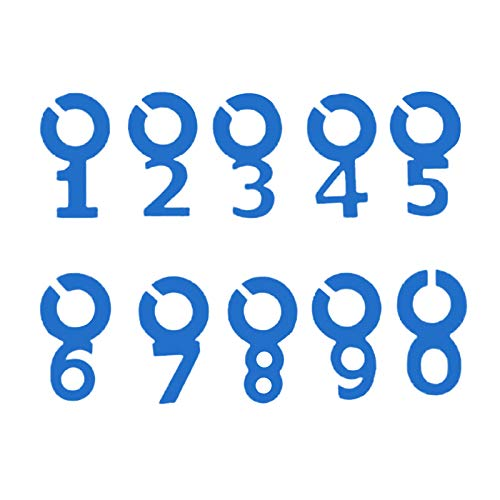 Yemiany wein marker markierung Gläse gläser markierung,10PCS Charm Tags Silikon Nummer Weinglas Markierungen Symbol Nummer Form Wein Marker für Hochzeitsfeier Bar Club Glas Tasse(blau)