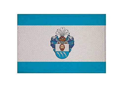 U24 Aufnäher Barth Fahne Flagge Aufbügler Patch 9 x 6 cm