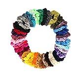 Lot de 40 chouchous cheveux velours multicolore femme dames maquillage chouchous velours pastel élastiques pour cheveux bandeau velours femme scrunchie velvet pas cher