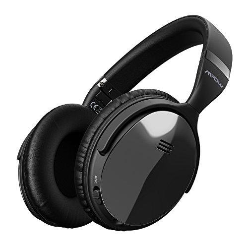 Mpow H5 [Upgrade] Active Noise Cancelling Headphones, ANC Over Ear Bluetooth Wireless Headphones with Mic, Comfortable Protein Earpads, Hands-Free Call, 30 Hours Playtime for Travel Work Computer Home