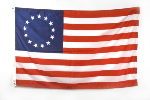 Betsy Ross - 3 ft x 5 ft Nylon Flag (Sewn and Embroidered)