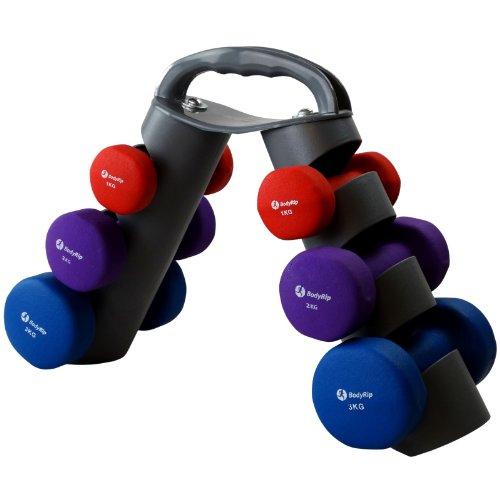 BodyRip Hantel-Set, Neopren, 12 kg