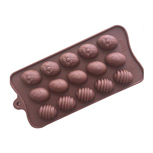 CAACXV 1 Pieza de Molde de pudín de Caramelo Mini Huevo de Pascua Molde de Bandeja de Hielo de Chocolate de Silicona DIY por defecto a Mano
