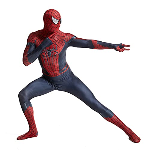 Hflyy Disfraz de Mascarada Spiderman Body Adulto niño Onesies Pascua Carnaval Medias Traje niño niña cumpleaños Fiesta Regalos Lycra Cosplay Zentai,Red-Kids/M/110~125cm