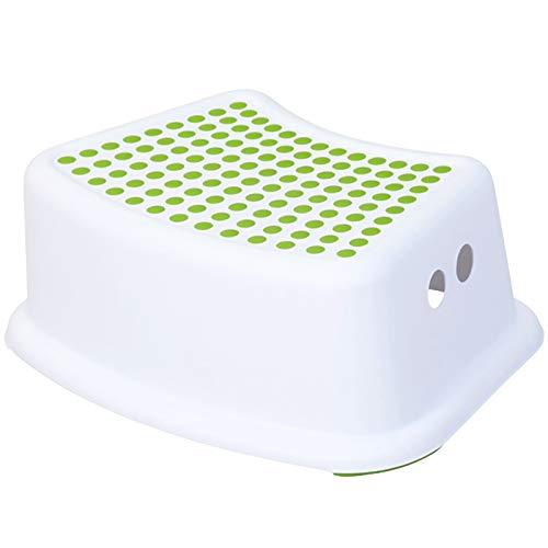 Heizung Squatury Potty rutschfeste Hocker des Kindes Trittschritthocker Piano Fußstütze Step Toilette Fußgrau und Grün Toilettenstufenhocker für Erwachsene und Kinder (Color : Green)
