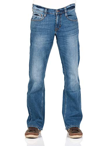 MUSTANG Herren Jeans Oregon - Bootcut - Blau - Light Blue - Mid Blue - Dark Blue - Black, Größe:W 38 L 32, Farbe:Medium Blue Denim (682)