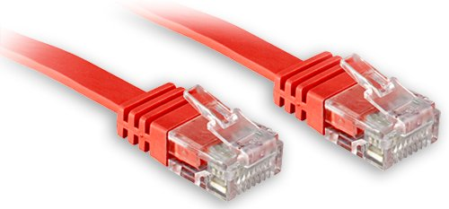 LINDY Cat6 UTP Flachband Patchkabel rot 2m Zubehor PC 45512