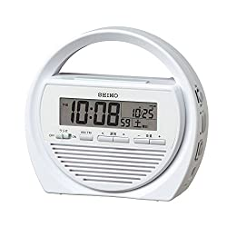 Seiko clock digital disaster prevention alarm clock radio flashlight manual generator SQ764W