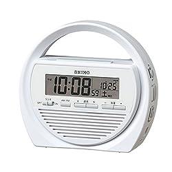 Seiko clock digital disaster prevention alarm clock radio flashlight manual generator SQ764W