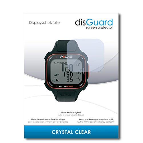 disGuard® Protector de Pantalla [Crystal Clear] compatibile con Polar RC3 GPS [3 Piezas] Cristal, Transparente, Invisible, Anti-Arañazos, Anti-Huella Dactilar - Película Protectora