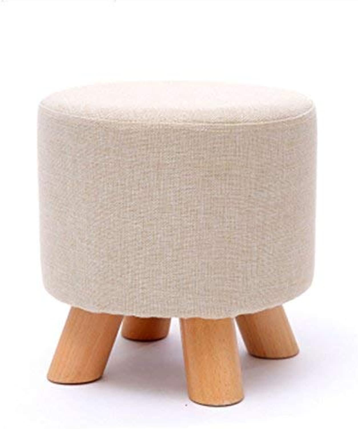 Ronggoutrade Solid Wood Home Stool Creative Living Room shoes Stool Fabric Sofa Stool Short Stool - Small Stool (color    5)