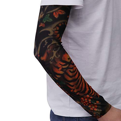 LIOOBO Tattoo Sleeve Sun Protection Contre Les Rayons du Soleil Stretch Arm Cover pour Hommes et Femmes