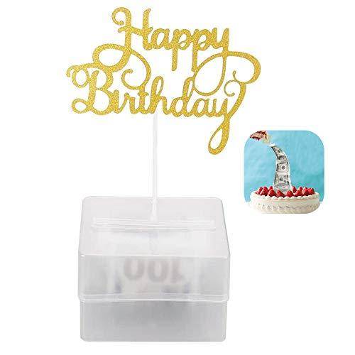 Caja de Dinero para Tartas Juguete Divertido Caja de Dinero de Pastel con 20 Bolsas Transparentes para Suministros de Fiesta de cumpleaños Regalo Sorpresa