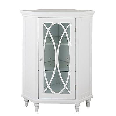 Corner Floor Cabinet in White