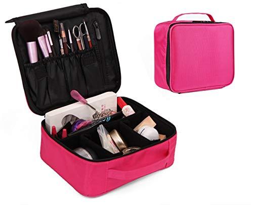 Sac cosmétique, sac cosmétique imperméable à double couche, trousse de toilette 26,0 cm * 22,0 cm * 12,0 cm,Pink
