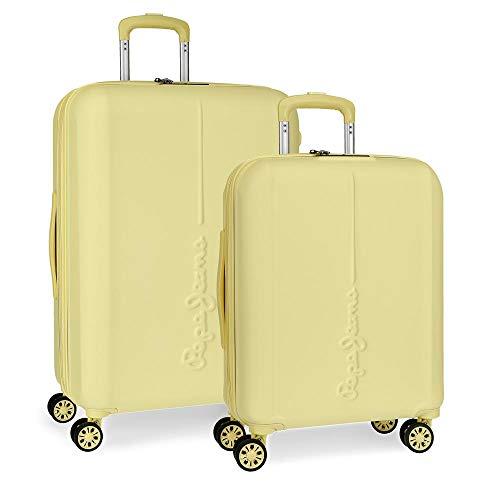Juego de maletas Pepe Jeans Glasgow Amarillo rígidas 55-70cm