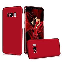 S8 Coque, Coque en Huile de Touche hyper Confortable et Glissante Matériau PC Premium Etui Housse Ultra Mince pour Samsung Galaxy S8 - Rouge