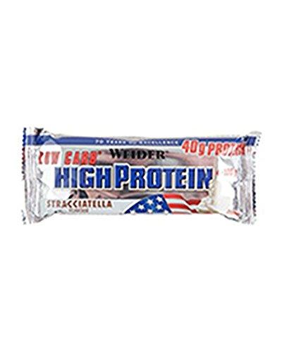 Weider 40% Low Carb High Protein Bar 20 barritas x 100 gr - Sabor - Stracciatella