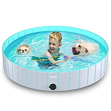 💪Sicher und hochwertig: Lunaoo Hundepool besteht aus sicherem und hochwertigem PVC-Material, das ungiftig und langlebig ist. Die eingebaute dicke und hochfeste Faserplatte macht den gesamten Pool stärker und kollabiert nicht. Der Boden ist aus dickem...