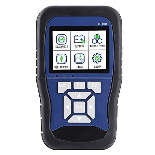 Qiilu Scanner per moto , scanner OBD portatile TopDiag TP100 Scanner intelligente a doppio sistema per batteria diagnostica per moto adatto per