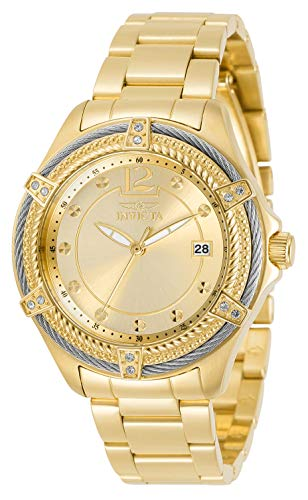 Invicta Women's Bolt Quartz Watch with Stainless Steel Strap, Gold, 18 (Model: 30880)
