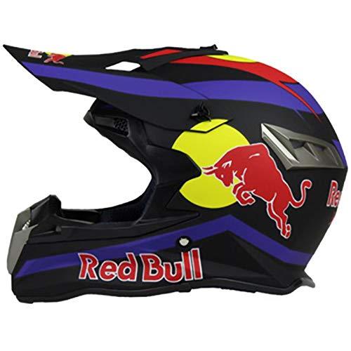 Casco Motocross,Casco de Cross Red Bull Casco Integral Moto Protección Cabeza Cascos,ECE...