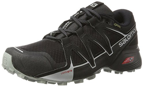Salomon Speedcross Vario 2 GTX Calzado de Trail Running, Hombre, Negro (Phantom/Black/Monument), 43 1/3 EU
