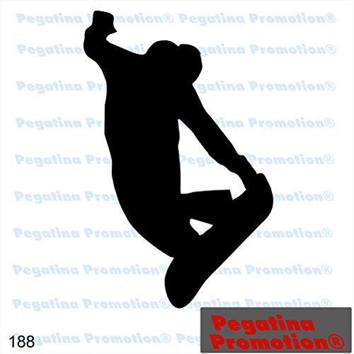Piktogramm Typ 188 Icon Symbol Zeichen Snowboarder Wintersport Aufkleber Sticker ca.15cm von Pegatina Promotion® Aufkleber mit Verklebehilfe von Pegatina Promotion® ohne Hintergrund geplottet