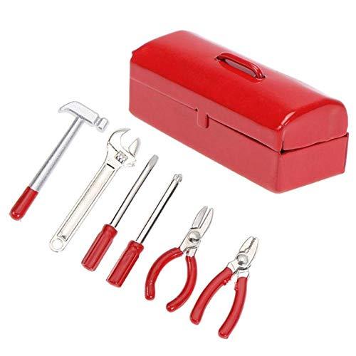 FairOnly 6 Stks/set Mini Hammer Moersleutel Reparatie Gereedschapskist voor 1:10 Simulatie RC Crawler Auto D90 SCX10 90046