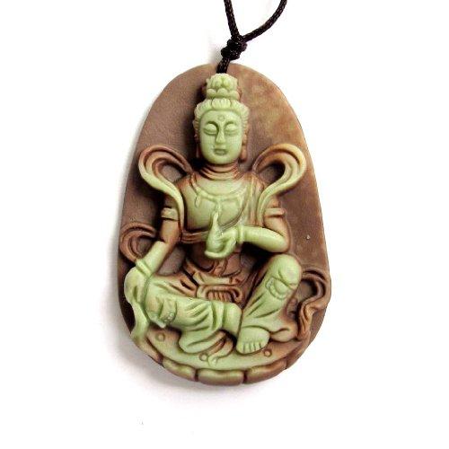 OVALBUY Two Layer Natural Stone Tibetan Buddhist...
