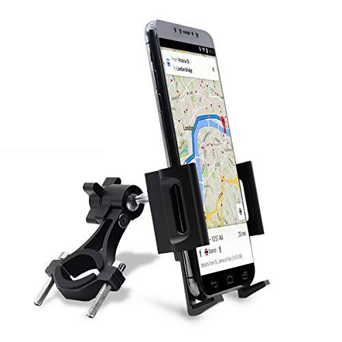 jiankun Supporto per Telefono per Bicicletta e Moto, Rotazione a 360 ° Supporto per Telefono Universale per Bici in Lega di Alluminio Supporto per Supporto per la Maggior Parte dei telefoni(A-Nero)