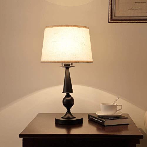 Allamp Norte de Europa Americana Mesa de Hierro Lámpara de Mesa lámpara Moderna Minimalista Dormitorio lámpara de cabecera Simple lámparas Decorativas al por Mayor de 30 * 58 cm Classic Noble