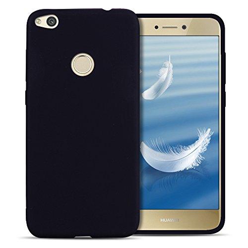 SpiritSun Funda para Huawei P8 Lite 2017, Soft TPU Silicona Handy Candy Carcasa Funda Suave Silicona Case Carcasa Ultra Delgado y Ligero Goma Flexible Phone Case Cover - Negro