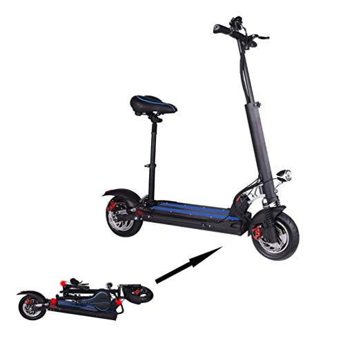 Buy AKICEMC Electric Folding Adult Scooter30-40km/h, 350-500W High-Power Bicycle, 4 Shock Absorption...