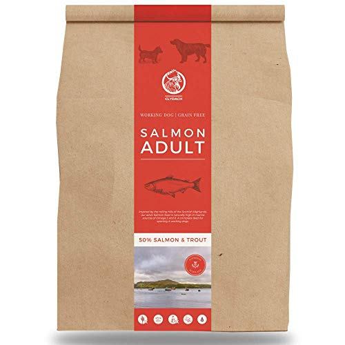 Clydach Farm Grain Free Dry Adult Dog Food packed with Natural Free-Range English. High in Omega 3 & 6, 5kg (Salmon, 5kg)