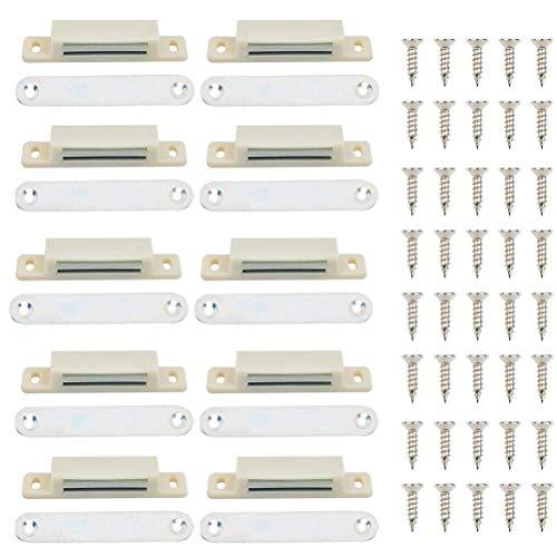 OFNMY Magnetschloss Tür Magnet Magnetverschluss für Schrank Tür mit Schrauben(50 Stück)