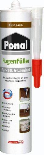 Ponal Parkett & Laminat Fugenfüller Nussbaum, elastische Fugenmasse für Anschluss- und...