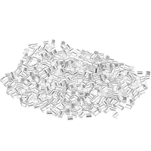 Bontannd 500 Unids Plata Tubo De Cobre Rizo Extremo Perlas Tope Espaciador Espaciador Perlas para Collar Joyería Haciendo Hallazgos Suministros